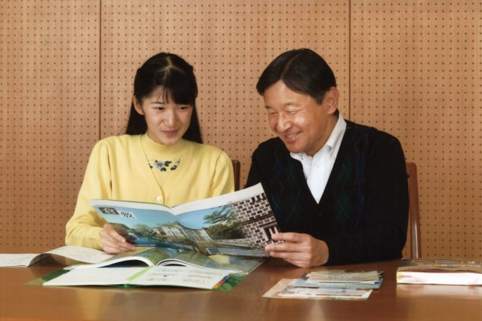 "A handout photo taken on November 23, 2016 and released by the Imperial Household Agency of Japan shows Princess Aiko (L) talking with her father Crown Prince Naruhito about her school trip at Togu Palace in Tokyo. Princess Aiko celebrated her 15th birthday on December 1. / AFP PHOTO / The Imperial Household Agency of Japan / STRINGER / ---EDITORS NOTE--- RESTRICTED TO EDITORIAL USE - MANDATORY CREDIT ""AFP PHOTO / IMPERIAL HOUSEHOLD AGENCY"" - NO MARKETING NO ADVERTISING CAMPAIGNS - DISTRIBUTED AS A SERVICE TO CLIENTS"