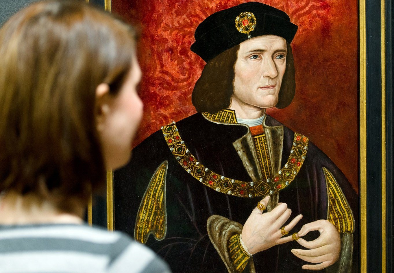 painting of Britain's King Richard III by an unknown artist is displayed in the National Portrait Gallery in central London