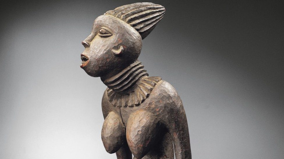 Sculpture of the Bangwa Queen currently owned by the Dapper Foundation in Paris, France