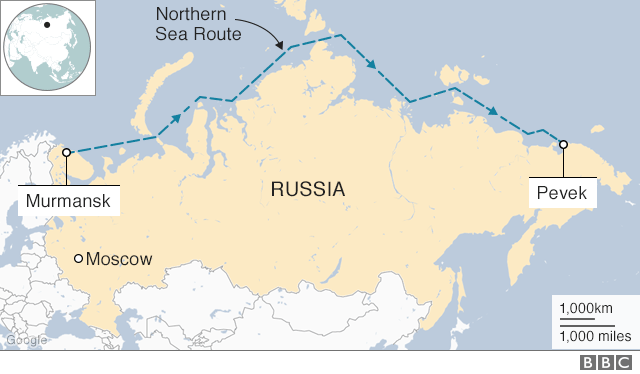 Northern Sea Route map