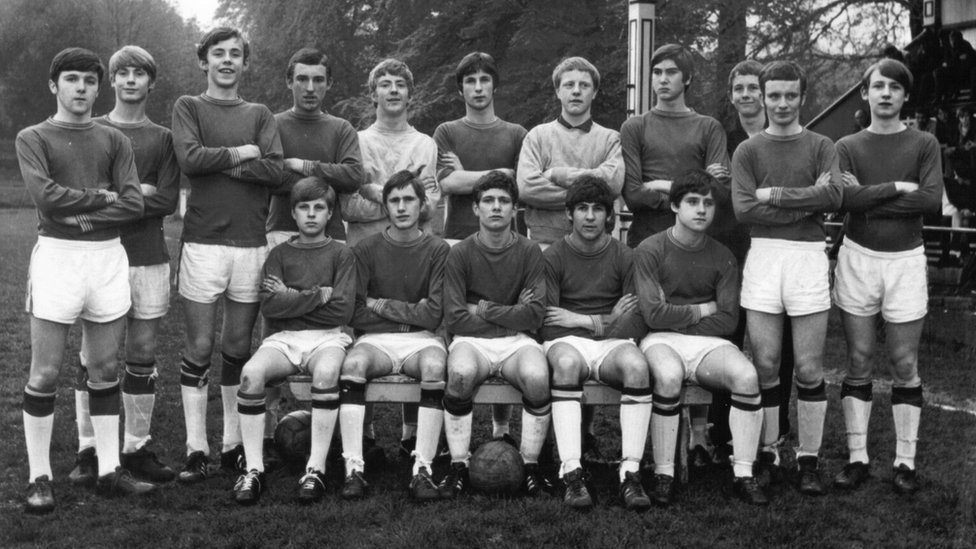Eamonn (front left) pictured with the Manchester Boys team