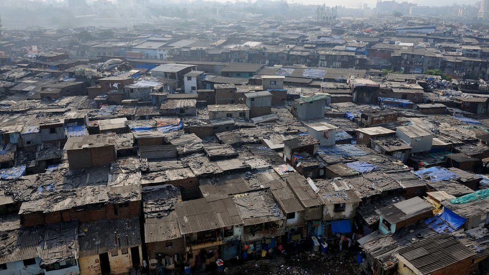 A general view of the Dharavi slum