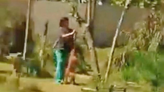 ป้าพยาบาลจับหมาเพื่อนบ้าน