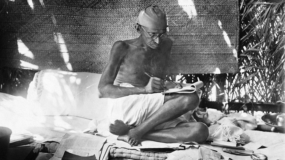 Gandhi's peaceful protest proved more persuasive than violence