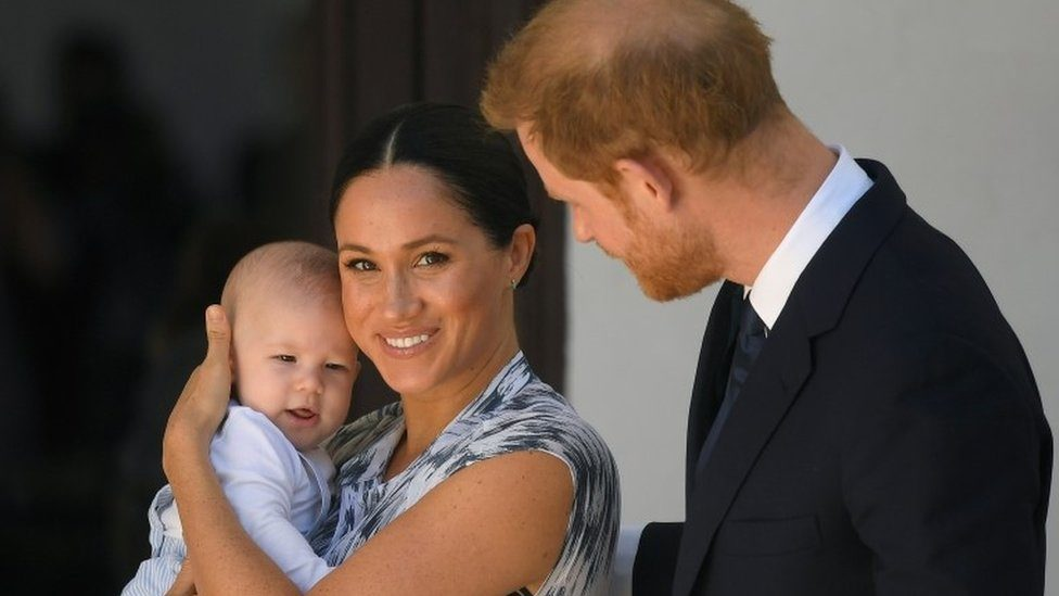 Duke and Duchess of Sussex with their baby, Archie