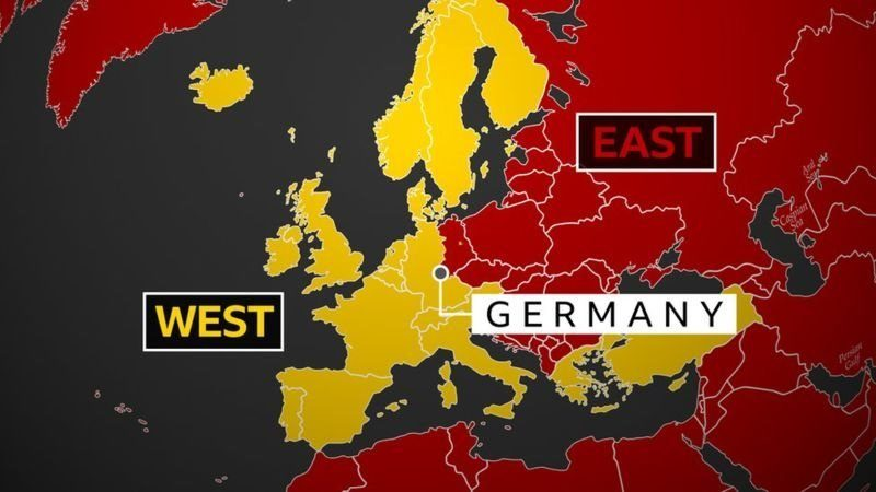 This map shows the divide between the east and the west