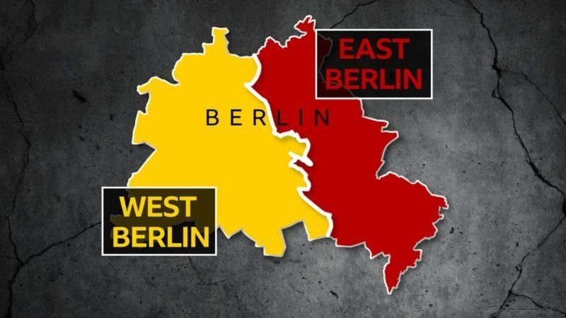 This map shows West Berlin, which was surrounded by the Berlin Wall
