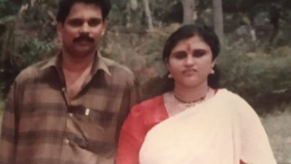 Rema Devi with her husband