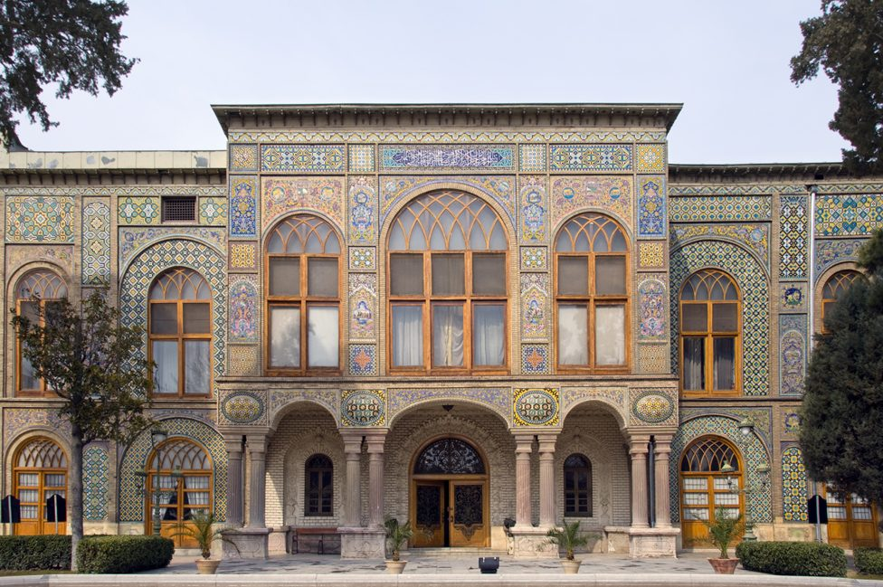 Tiled entrance to the Golestan Palace in Tehran