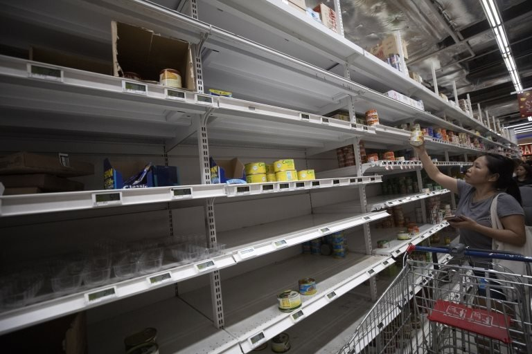 Residents in Singapore stock up on food and necessities after the Singapore Ministry of Health raised its Disease Outbreak Response System Condition (DORSCON) level from yellow to orange with regards to the coronavirus outbreak