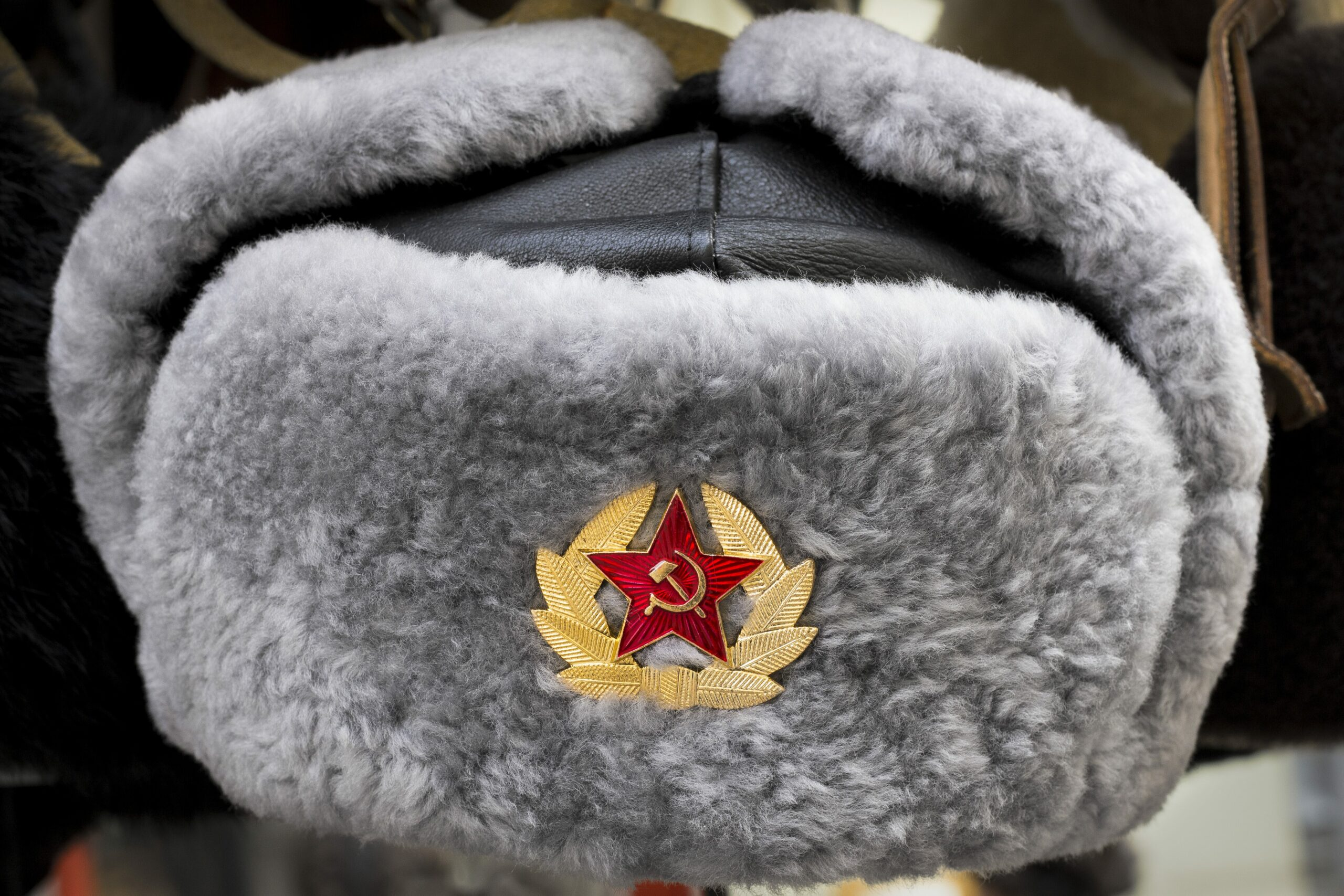 Soviet winter fur hat