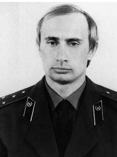 Young Vladimir Putin in KGB uniform
