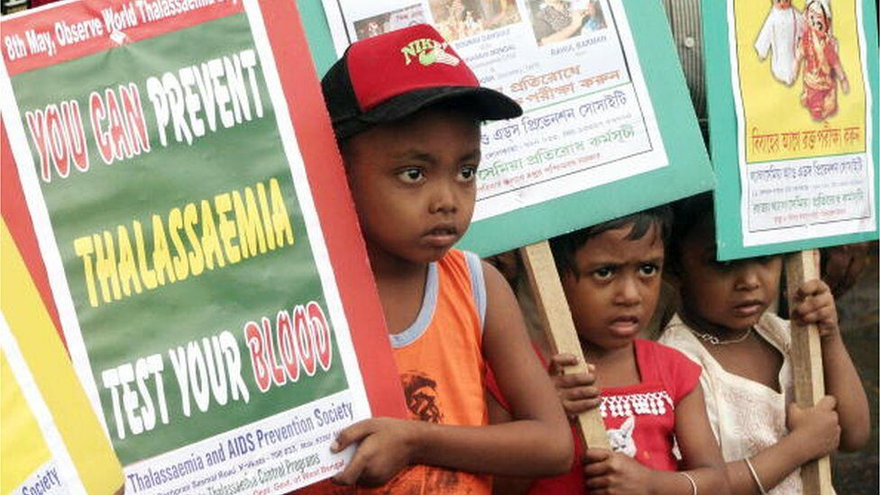 A rally in India on World Thalassaemia Day