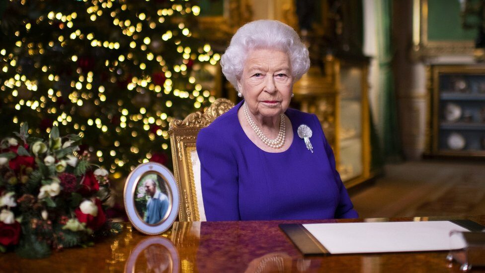The Queen pictured at Windsor Castle in mid-December 2020