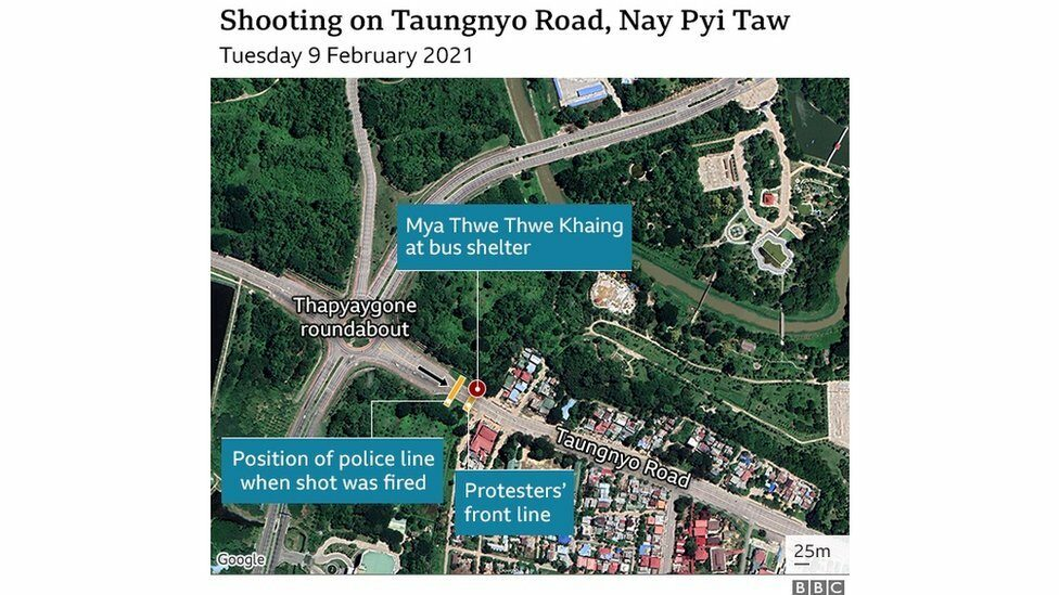 Shooting on Taungyo road