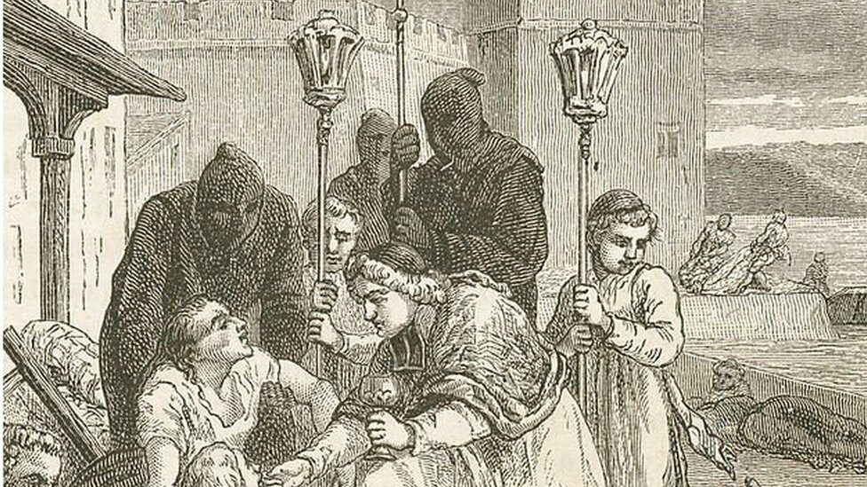 early Black Death outfits
