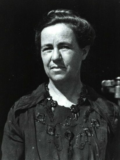 A black and white portrait of Antonia Maury