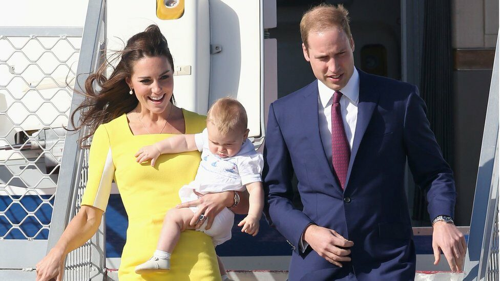 William, Kate and George arrive in Sydney Airport on 16 April 2014