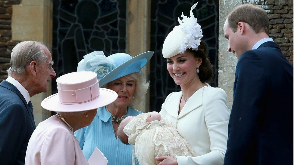 William and Kate show Princess Charlotte to the Queen