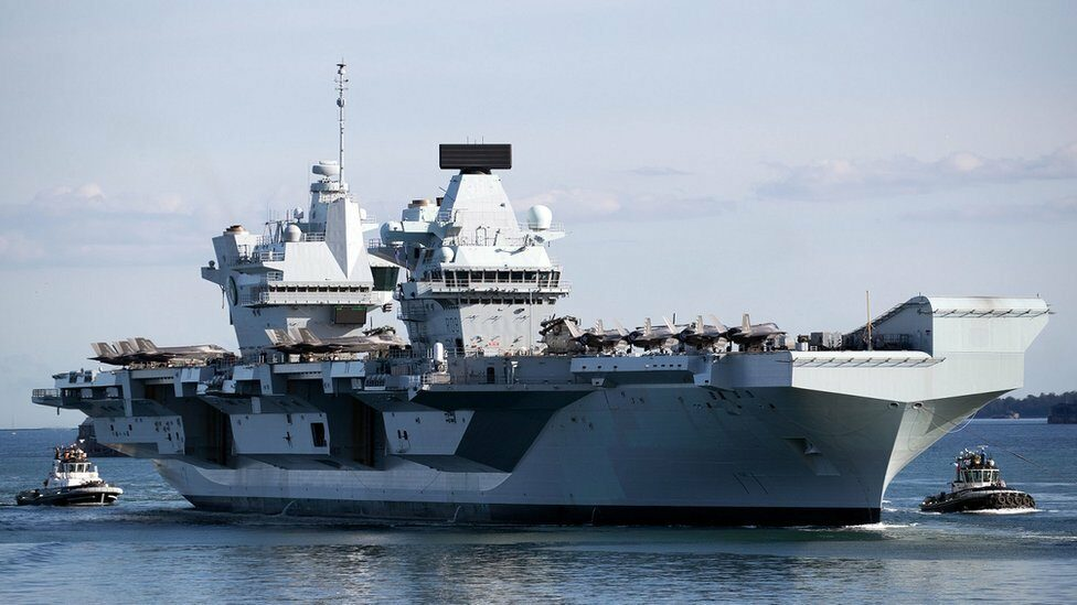 The HMS Queen Elizabeth is on its first voyage around the world.  and will arrive in the Asia-Pacific region next month.