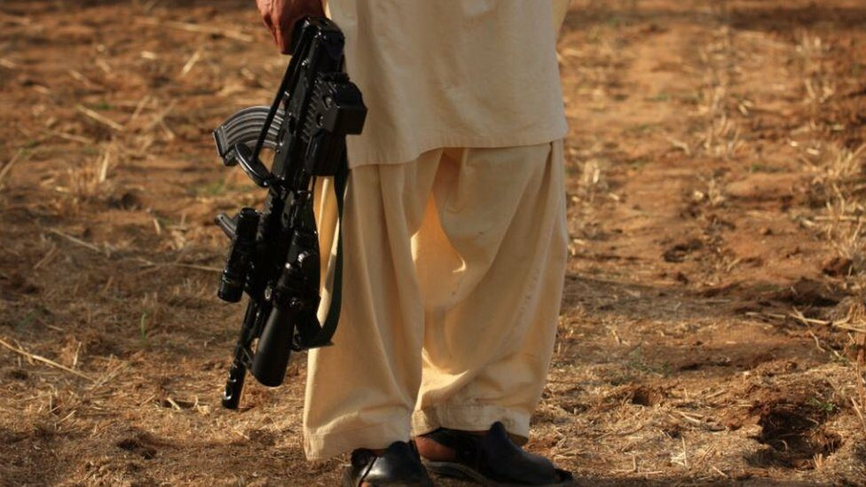 Taliban militant with a rifle