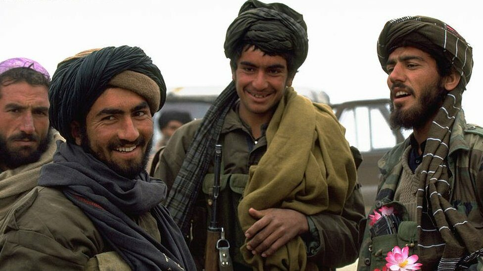 Taliban fighters during the civil war between 1978 and 1992
