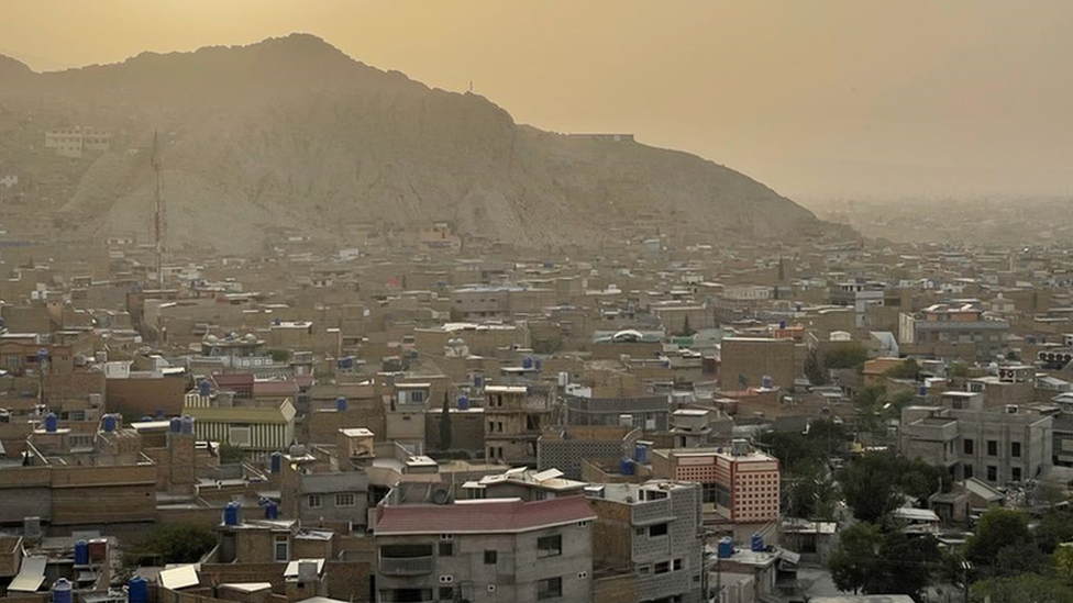 A wide shot of the Pakistani city of Quetta and the Hazara area