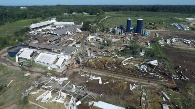 Damage to Wellacrest Farm in New Jersey